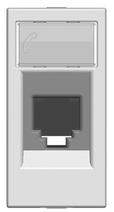 Розетка телеф. на 6 конт., RJ12, 1 мод ABB NIE Zenit Серебро