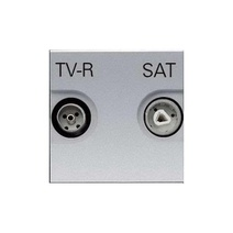 Розетка TV-FM-SAT един., 2 мод ABB NIE Zenit Серебро
