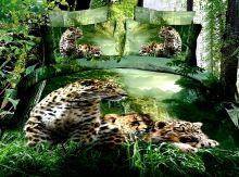 Комплект постельного белья Сатин  3D эффект семейный  Арт.KE220/49