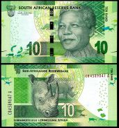 Южная Африка - ЮАР - 10 рандов UNC, пресс