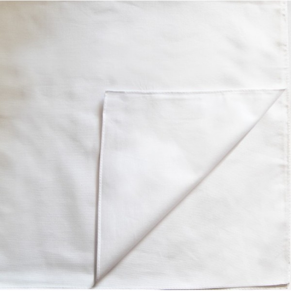 Однотонная бандана (белая)