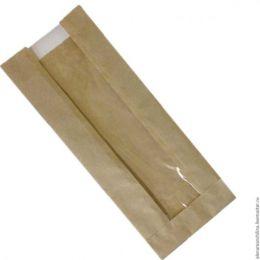 Пакет бумажный Крафт (с окном) 140*70*370 см (50 шт.)