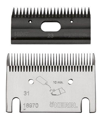 Запасные ножи для машинки для стрижки 31/23 Constanta 4. Kerbl