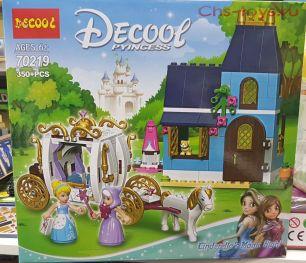 Конструктор Decool Princess Сказочный вечер Золушки 70219 (Аналог LEGO Disney Princess 41146) 350 дет