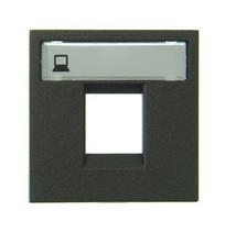 Накл. 1-я тел/комп розетки ABB NIE Zenit Антрацит