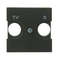 Накл. для TV-R роз., 2 мод ABB NIE Zenit Антрацит