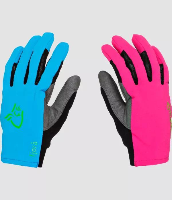 Norrona fjørå flex1 Gloves pink blue