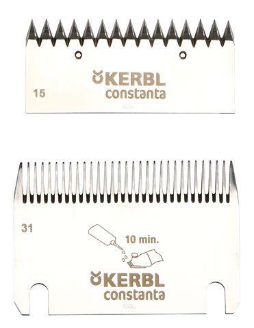 Запасные ножи для машинки для стрижки 15/31 Constanta 4. Kerbl