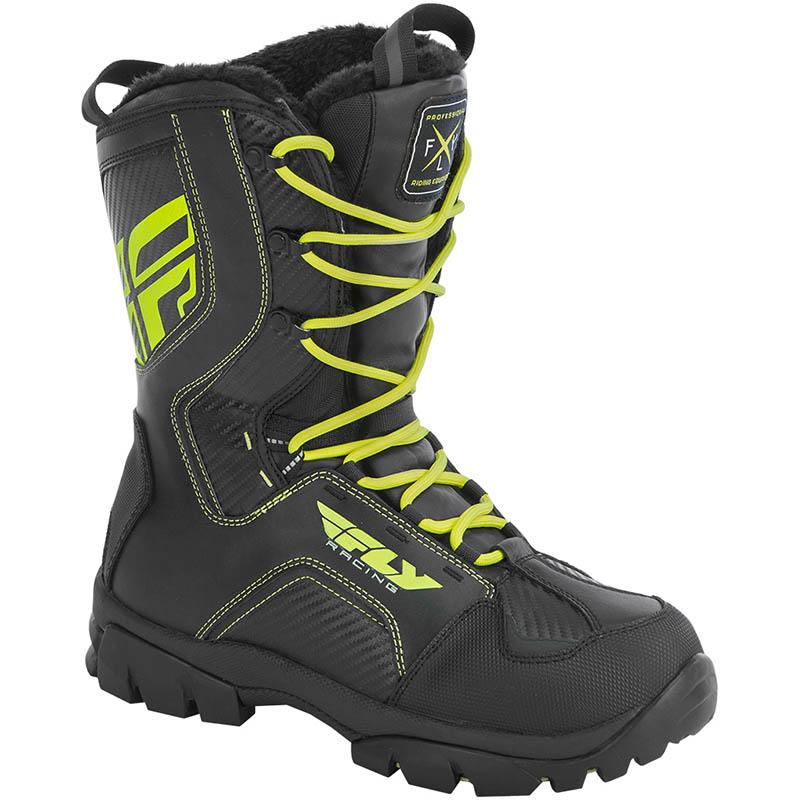 Fly - Marker Boot Black/Hi-Vis ботинки зимние для ATV/снегохода