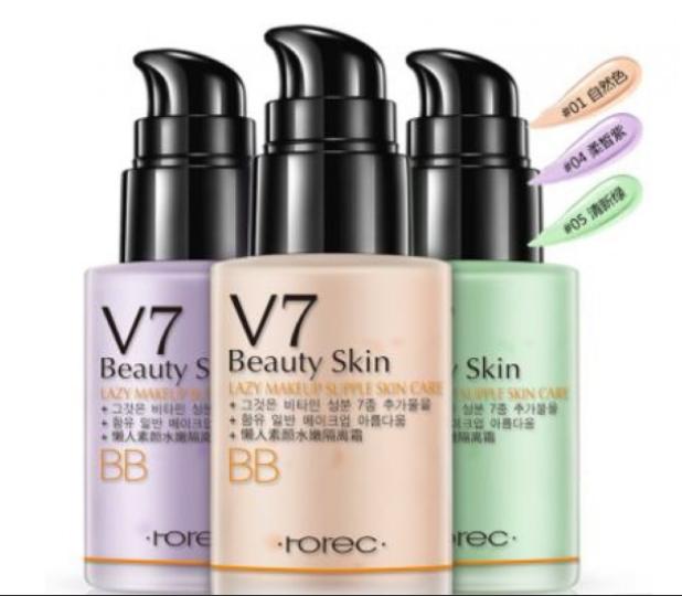 Мультифункциональная ББ - база под макияж Rorec V7 Beauty Skin от «BIOAQUA» №4 сиреневый (9323)