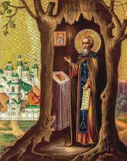 Тихон Калужский (икона на дереве)