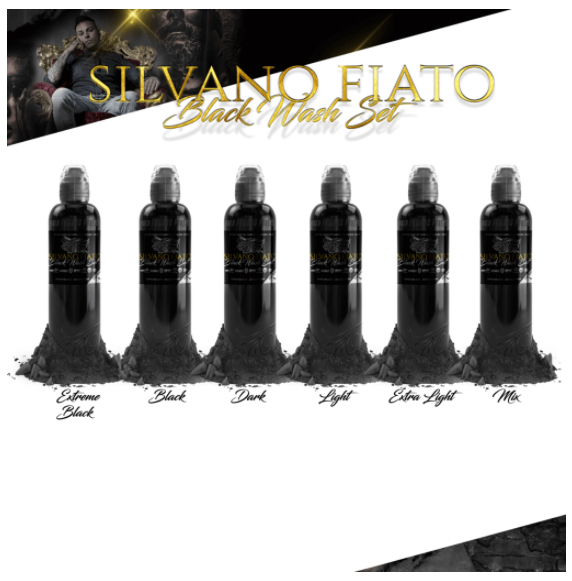 World  Famous Ink SILVANO FIATO BLACK WASH SET