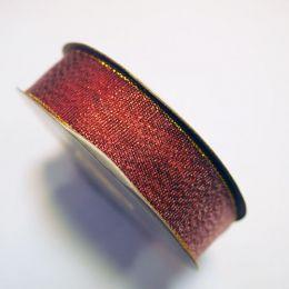 Лента парча 1,5 см (30 м) Красная