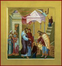 Введение во храм Пресвятой Богородицы (икона на дереве)