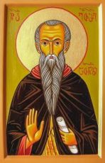 Евфимий Афонский (икона на дереве)