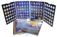 Капсульный альбом для монет ГВС и других монет с гальваническим покрытием на 60 ячеек