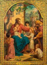 Икона Иисус Христос и дети