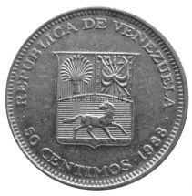 Венесуэла 50 сентимо 1988 г.