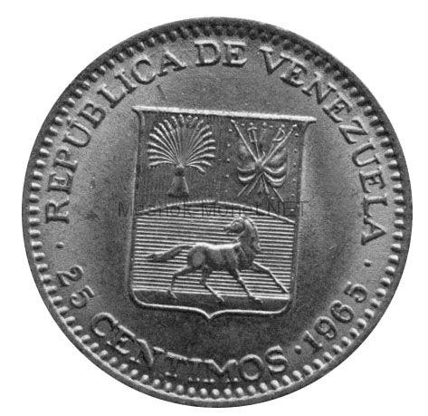 Венесуэла 25 сентимо 1965 г.