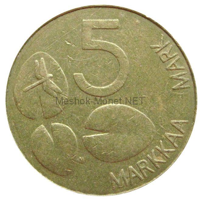 Финляндия 5 марок 1993 г.