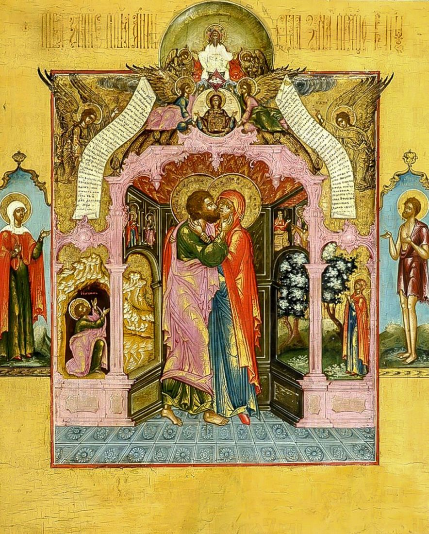 Икона Зачатие Пресвятой Богородицы (копия старинной)