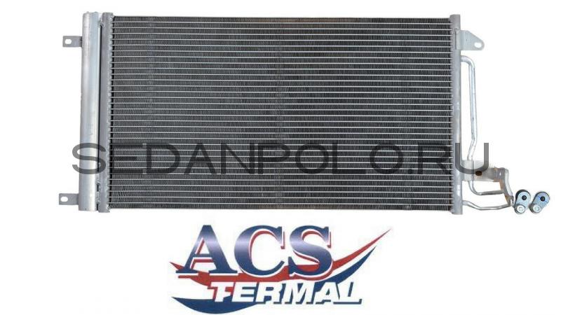 Радиатор кондиционера Termal Volkswagen Polo Sedan