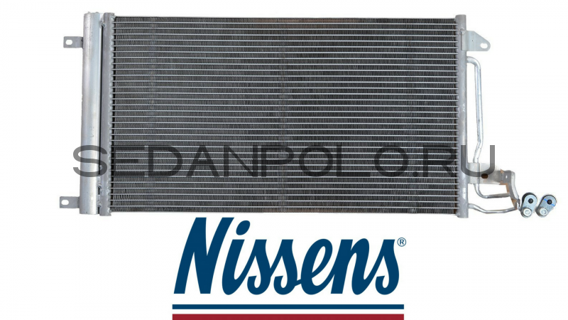 Радиатор кондиционера Nissens Volkswagen Polo Sedan