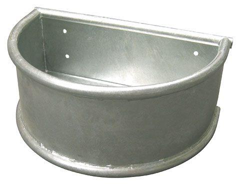 Полукруглая кормушка металлическая 28 л. Kerbl