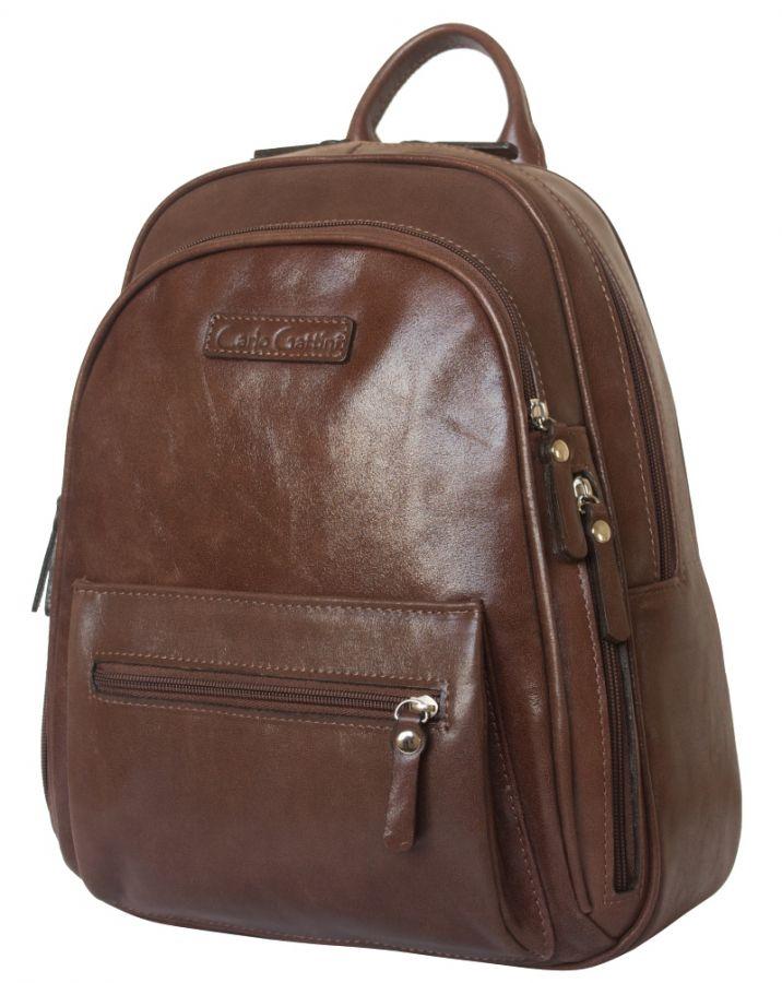 Женский кожаный рюкзак Bolsena brown