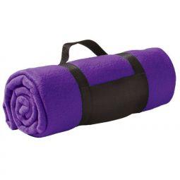 флисовые пледы фиолетового цвета