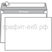 Конверт бумажный С4 229х324 б/подсказа/без окна/отрывная лента LKn_40020 Россия