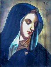 Скорбящая икона Божией Матери (копия старинной)