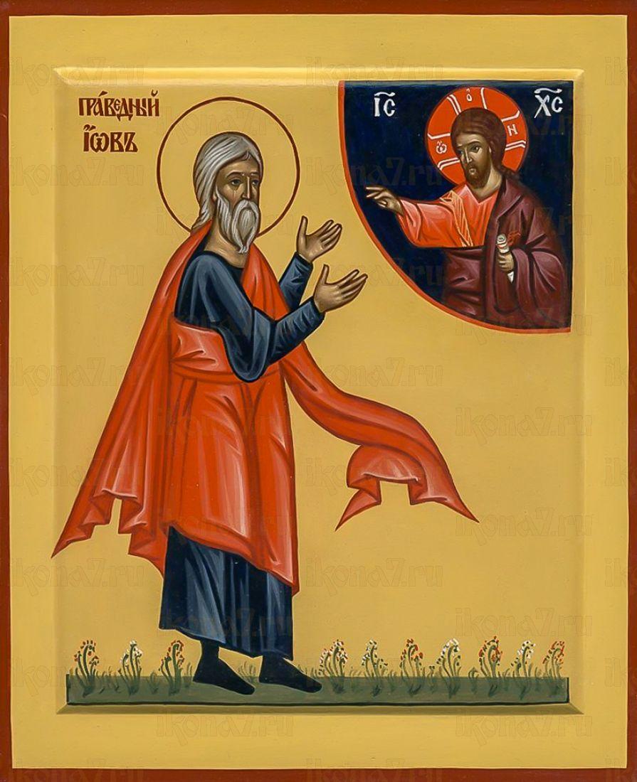 Иов Многострадальный (икона на дереве)
