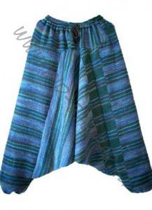 Теплые штаны алладины сине-зеленого цвета (Москва)