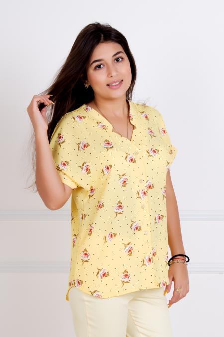 """Блуза """"Илона"""" желтая"""
