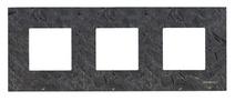 Рамка 3-я ABB NIE Zenit Сланец
