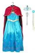 Платье костюм Эльзы поющее коронация с аксессуарами