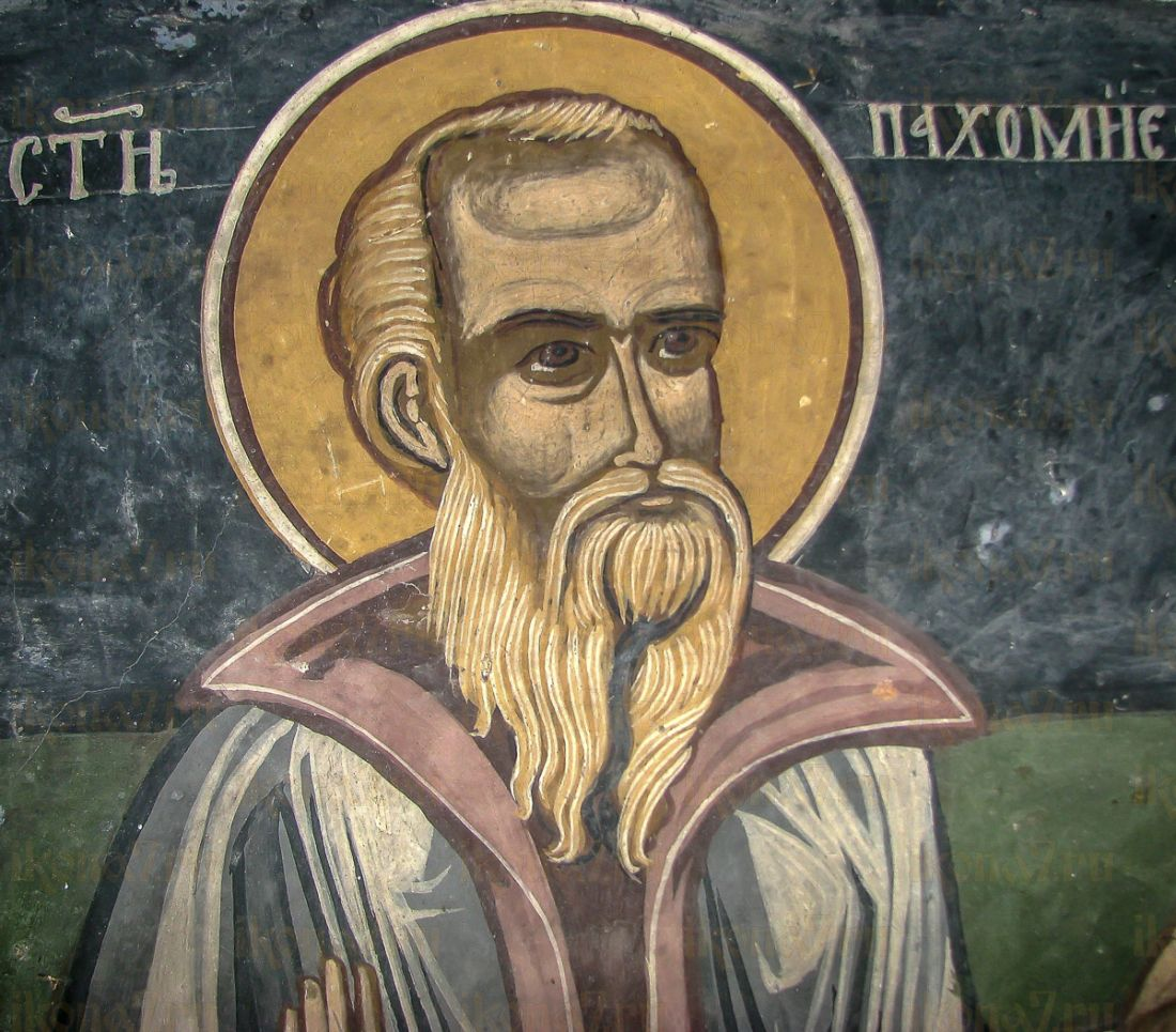 Икона Пахомий Великий (копия старинной)