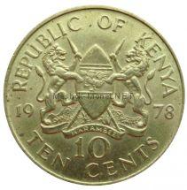 Кения 10 центов 1978 г.
