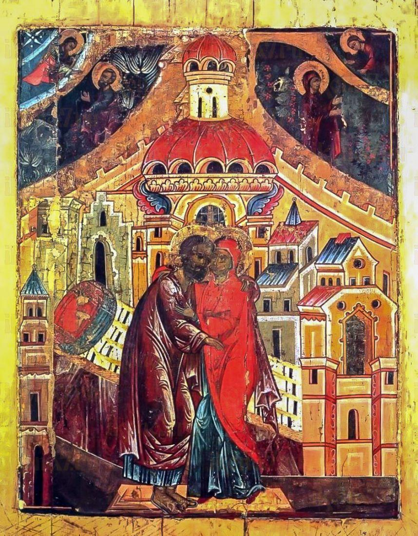 Икона Зачатие Пресвятой Богородицы (копия 16 века)