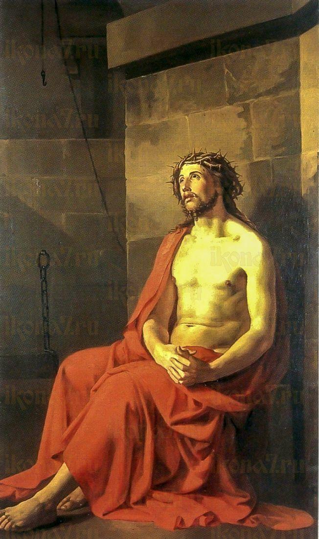 Иисус Христос в темнице (икона на дереве)