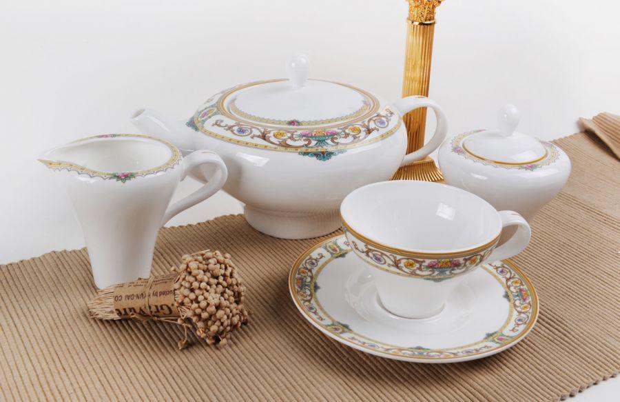 """Чайный сервиз на 6 персон """"Ренессанс"""", 15 пр."""