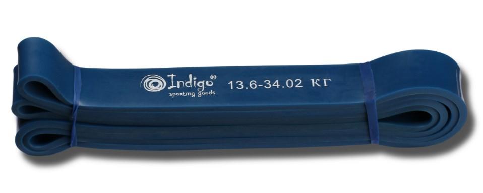 Эспандер резиновая петля Кроссфит INDIGO 601 HKRBB 208*2,9 см (13 - 34 кг)