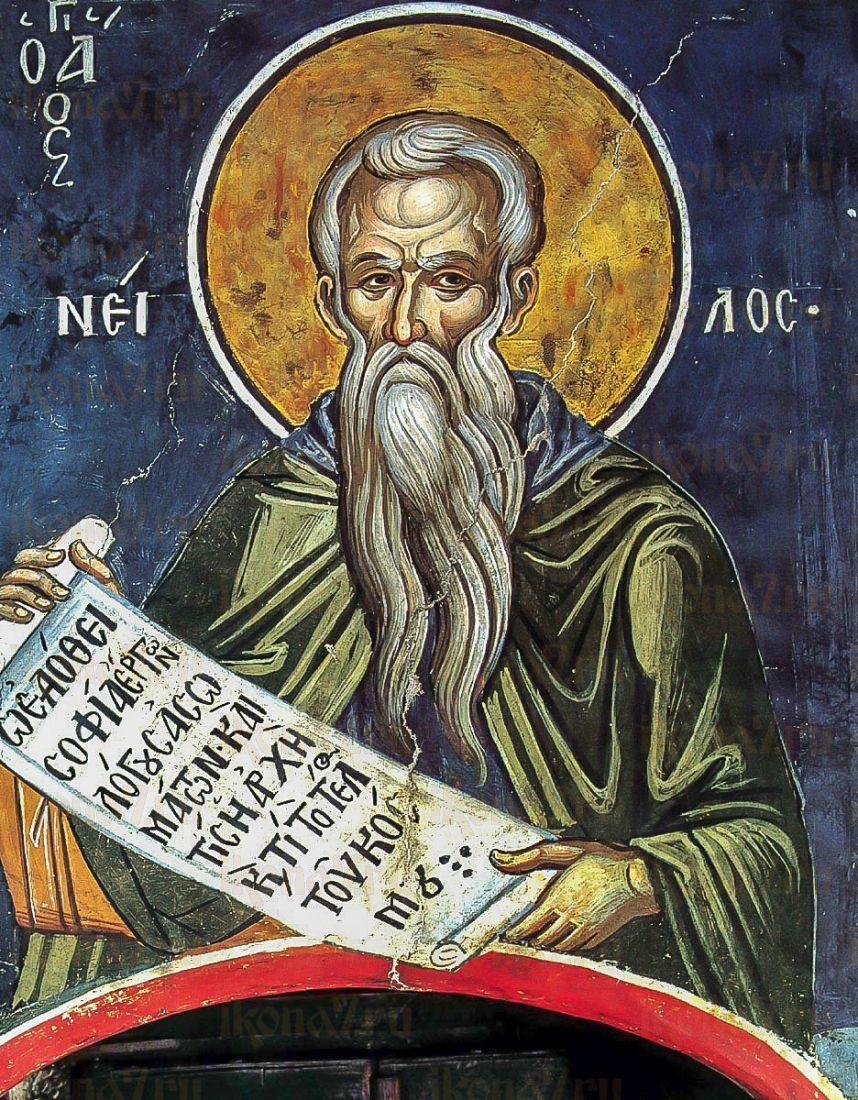 Икона Нил Постник (Синайский) (копия старинной)