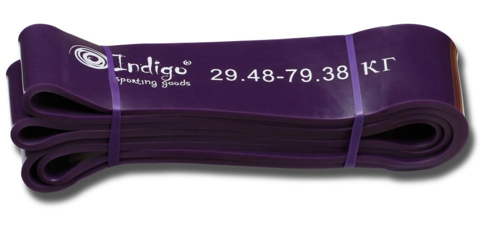 Эспандер резиновая петля Кроссфит INDIGO 601 HKRBB 208*6,4 см (29 - 79 кг)