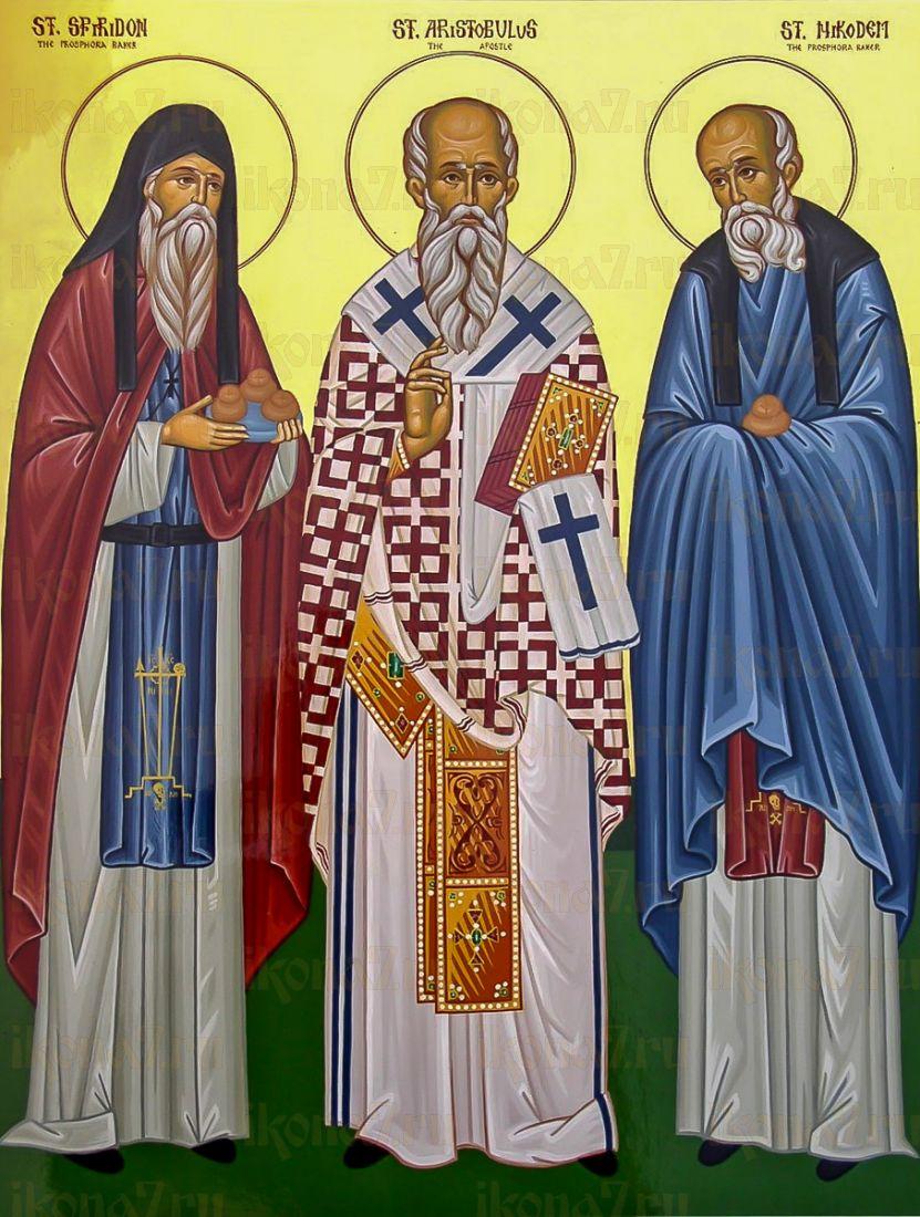 Икона Спиридон и Никодим Печерские