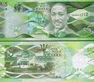 Барбадос 5 Долларов 2013 ПРЕСС