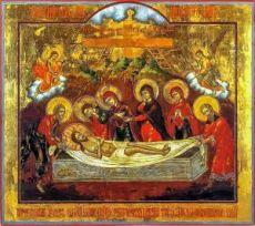 Положение во гроб (копия старинной иконы)