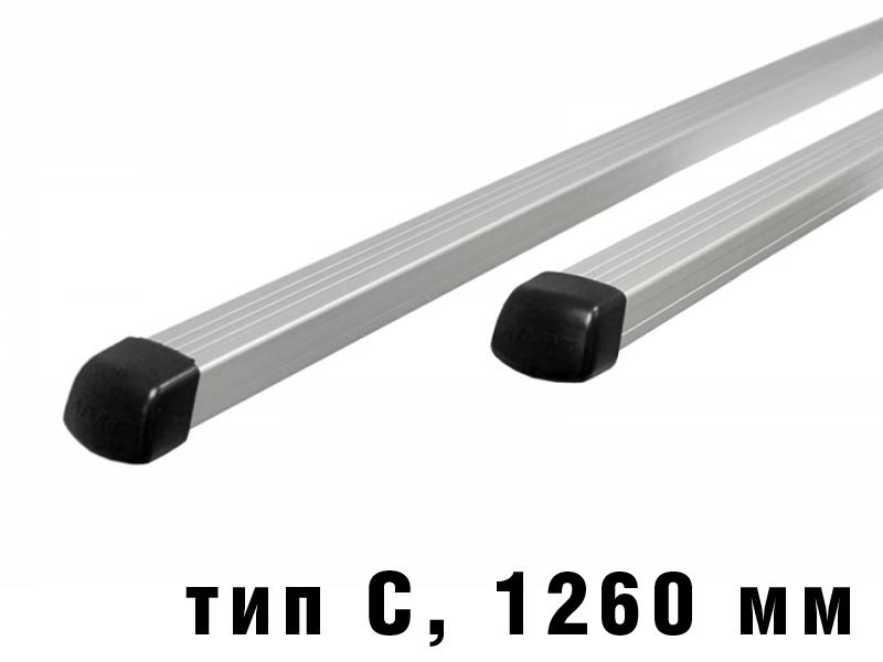 Дуги багажные, алюминиевые, прямоугольный профиль, Атлант - 1260 мм, тип С, артикул 8726