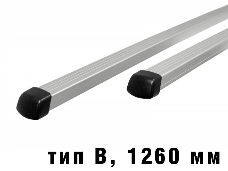 Дуги багажные, алюминиевые, прямоугольный профиль, Атлант - 1260 мм, тип B, артикул 8826